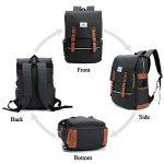 Sac à dos Ordinateur Portable, Tezoo Imperméable Super léger 30L Backpack avec Prise USB pour École Étudiant Homme Femme Business - Noir de la marque image 2 produit