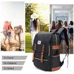 Sac à dos Ordinateur Portable, Tezoo Imperméable Super léger 30L Backpack avec Prise USB pour École Étudiant Homme Femme Business - Noir de la marque image 6 produit
