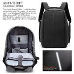 Sac à dos pour ordinateur portable/GENOLD Sac Antivol pour 15.6 pouces avec port de charge USB,Sac Imperméable pour loisir/affaires,homme/femme- Noir de la marque image 5 produit