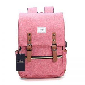 Sac à dos pour ordinateur portable, Tezoo Impémeable Super léger 30L Backpack avec Prise USB pour École Étudiant Homme Femme Business - Rose de la marque image 0 produit