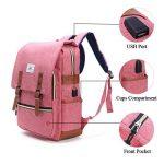 Sac à dos pour ordinateur portable, Tezoo Impémeable Super léger 30L Backpack avec Prise USB pour École Étudiant Homme Femme Business - Rose de la marque image 3 produit