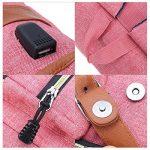 Sac à dos pour ordinateur portable, Tezoo Impémeable Super léger 30L Backpack avec Prise USB pour École Étudiant Homme Femme Business - Rose de la marque image 5 produit