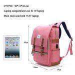 Sac à dos pour ordinateur portable, Tezoo Impémeable Super léger 30L Backpack avec Prise USB pour École Étudiant Homme Femme Business - Rose de la marque image 6 produit