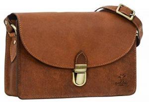 """Sac à main - Gusti Cuir studio """"Zoey"""" sac à bandoulière vintage sac pour sortir rétro sac pour tous les jours homme femme cuir de vachette 2H87-33-1-7-9 S de la marque Gusti Leder studio image 0 produit"""