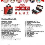 Sac de trousse de premiers secours de 160 pièces - Comprend un paquet de glace (glace), couverture d'urgence, Glow Stick, boussole, ciseaux pour (Rouge) de la marque image 3 produit