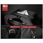 """Sac ¨¤ dos Antivol USB et Port de charge Antipluie Fashion en nylon Ordinateur portable/Tablette PC ¨¤ 13""""-15"""" de la marque image 5 produit"""