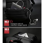 """Sac ¨¤ dos Antivol USB et Port de charge Antipluie Fashion en nylon Ordinateur portable/Tablette PC ¨¤ 13""""-15"""" de la marque image 6 produit"""