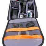 Sac à dos de transport noir DURAGADGET pour GoPro 1, 2, 3, 3+ HD, GoPro Hero 4, HERO+ LCD, Hero4 Session, HERO5 Black, Hero 5 Session caméras de sport et ses accessoires - avec compartiments de rangement de la marque Duragadget image 1 produit