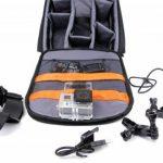 Sac à dos de transport noir DURAGADGET pour GoPro 1, 2, 3, 3+ HD, GoPro Hero 4, HERO+ LCD, Hero4 Session, HERO5 Black, Hero 5 Session caméras de sport et ses accessoires - avec compartiments de rangement de la marque Duragadget image 2 produit
