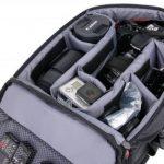 Sac à dos de transport noir DURAGADGET pour GoPro 1, 2, 3, 3+ HD, GoPro Hero 4, HERO+ LCD, Hero4 Session, HERO5 Black, Hero 5 Session caméras de sport et ses accessoires - avec compartiments de rangement de la marque Duragadget image 3 produit