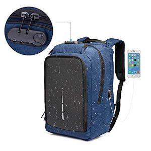 b28e8f1695 Sac à dos Antivol,Sac à dos pour ordinateur portable pour 15.6/17.3 pouces  avec port de charge USB Sac a dos pour voyager/loisir/affaires,homme/femme  de la ...
