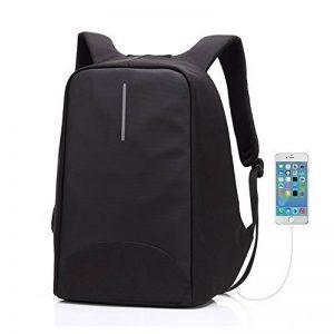 Sac à dos pour ordinateur portable/GENOLD Sac Antivol pour 15.6 pouces avec port de charge USB,Sac Imperméable pour loisir/affaires,homme/femme- Noir de la marque image 0 produit