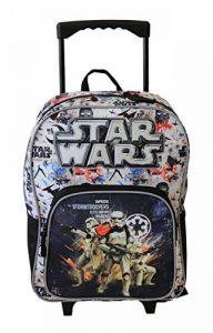 Sac à dos à roulettes noir et blanc, Starwars pour enfants en CP de la marque image 0 produit
