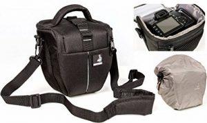 Sac étui Bodyguard Colt M Sacoche pour appareil photo avec housse de pluie pour tous les appareils photo SLR avec objectifs jusqu'à 18cm à l'exempe de Nikon d3200 d5100 d5200 d3300 d5300 d5500 d7000 d7100 d800 Canon EOS 1200D 1300D 700D 750D 760D image 0 produit