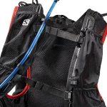 Salomon, SKIN PRO 15 SET, Sac à dos léger 15 L (Taille unique) pour la course à pied et la randonnée pédestre ou à vélo, 40 x 18 x 17 cm, Noir/Rouge, L37996200 de la marque image 2 produit