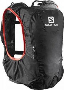 Salomon, SKIN PRO 15 SET, Sac à dos léger 15 L (Taille unique) pour la course à pied et la randonnée pédestre ou à vélo, 40 x 18 x 17 cm, Noir/Rouge, L37996200 de la marque image 0 produit