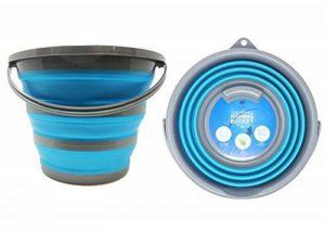 Seau portatif pliable pour usage domestique - capacité de stockage d'eau jusqu' à 10 litres - Idéal pour le nettoyage de la maison, les activités extérieures, la pêche et le camping. de la marque image 0 produit
