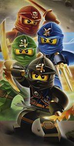 Serviette de bain ou plage en coton Ninjago Quadrant Warriors LEGO de la marque image 0 produit