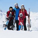 Ski Épaule et Ski Carrier Réglable Strap Lash Porte-Épaules avec le Support Rembourré Protège les Skis et les Poteaux des Rayures, Noir et Bleu de la marque image 6 produit