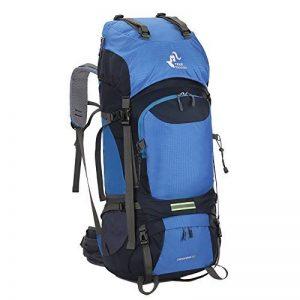Skysper 60L Sac à dos de Randonnée Unisexe Imperméable et Résistant à l'usure Sac à dos de sport professionnel pour Cyclisme Moto Randonnée Alpinisme de la marque image 0 produit
