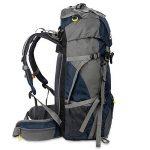 Skysper Sac à Dos de Randonnée 50L (45 + 5) en Nylon avec Housse de Protection Imperméable Ultraléger pour Alpinisme Escalade Trekking Sport Voyage Camping de la marque image 5 produit
