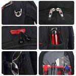 Soarpop SA007 Sacs à Dos Pour Ordinateur Portable 15.6 ,Sac Dos Noir, Business Backpack de la marque Soarpop image 5 produit