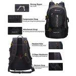 Soarpop Sac à dos étanche, 40 + 5L Multipurpose extérieur Randonnée / Escalade Sac à dos de la marque Soarpop image 3 produit