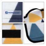 Songmics 200 x 200 cm Couverture Tapis de pique-nique imperméable pliable portable pour Camping Jardin avec Poignée GCM76S de la marque image 3 produit