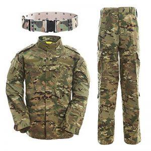 Tactical Veste Hommes BDU Combat Uniforme QMFIVE T-shirt et Pantalon Suit Woodland Camo pour Guerre Guerre Armée Militaire Paintball Airsoft Hunting Shooting de la marque image 0 produit
