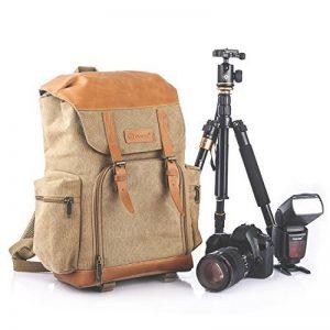 TARION M-02 Sac à dos grande capacité,anti choc et résistant à l'eau pour appareil photo ;objectif ;flash etc .Kaki de la marque TARION image 0 produit