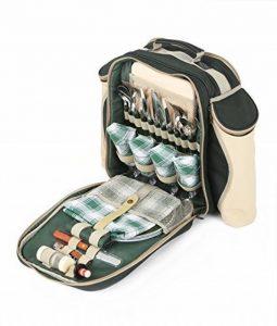 The Greenfield Collection BPD4DGH - Sac à dos de pique-nique Deluxe pour 4 personnes en Vert Forêt de la marque image 0 produit