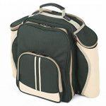 The Greenfield Collection BPD4DGH - Sac à dos de pique-nique Deluxe pour 4 personnes en Vert Forêt de la marque image 1 produit