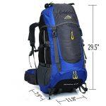 Ticktock Ong 70L Travel Backpack Grande randonnée pédestre Alpinisme Ruck Sack Water Resistang Sac de bagage pour les voyages en plein air Escalade Camping de la marque image 4 produit
