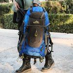 Ticktock Ong 70L Travel Backpack Grande randonnée pédestre Alpinisme Ruck Sack Water Resistang Sac de bagage pour les voyages en plein air Escalade Camping de la marque image 6 produit