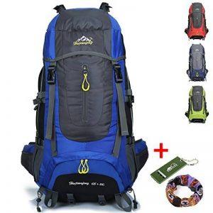 Ticktock Ong 70L Travel Backpack Grande randonnée pédestre Alpinisme Ruck Sack Water Resistang Sac de bagage pour les voyages en plein air Escalade Camping de la marque image 0 produit