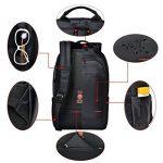 Tigernu ordinateur portable sac à dos 17.3 pouces pour ordinateur portable étanche résistant Anti-Theft Zip École de commerce Sacs à dos-noir de la marque Tigernu image 5 produit