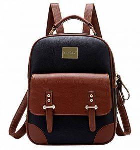 TinkSky Korean Sac à dos cartable en cuir style vintage chic pour fille de la marque image 0 produit