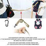 Tissu Sac A Dos Enfant Fille Lapin Bambin Cher Cartable Maternelle Garderie PréScolaire(1-3ans) de la marque Lakeausy image 2 produit