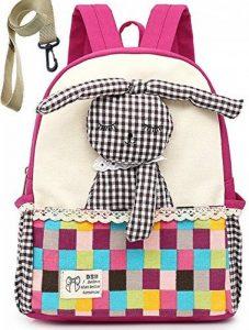 Toile Sac A Dos Enfant Fille Lapin Bambin Mignon Cartable Maternelle Garderie PréScolaire(1-3ans) de la marque Lakeausy image 0 produit