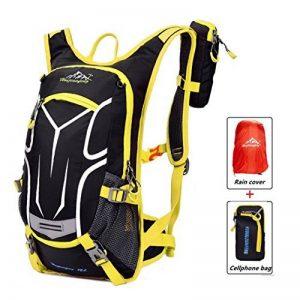 bac5d82216 Sac a dos de GreatRich, étanche et léger, 18 L, avec poche à eau et housse  anti-pluie pour cyclisme / sports de plein air VTT / équitation / randonnée  ...