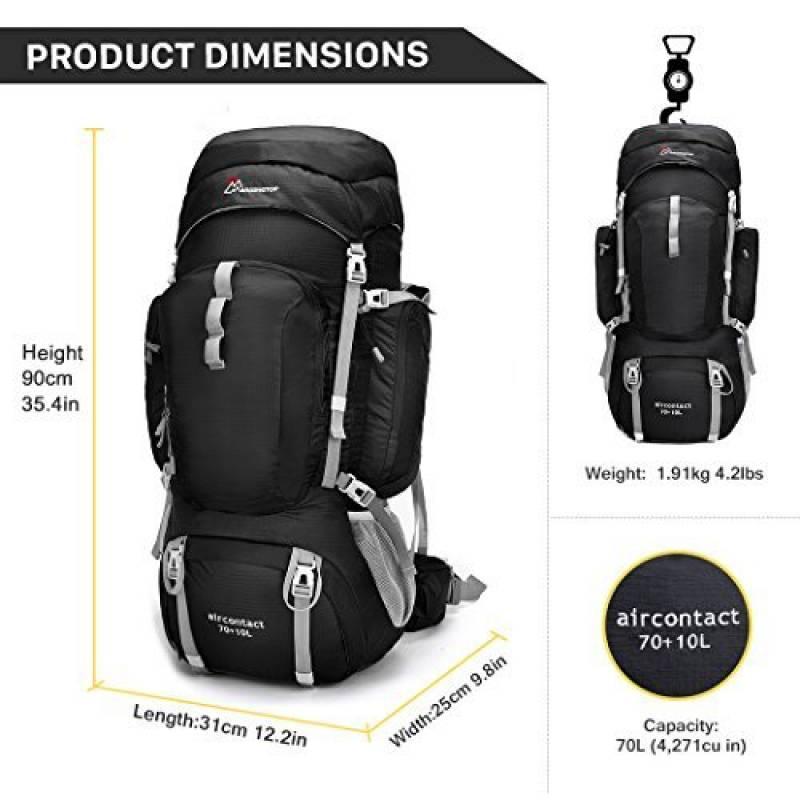 1f6b29fd4f4e Mardingtop 70L+10L sac à dos de randonnee sports en plein air avec  couverture de pluie pour l alpinisme, le camping, le trekking, les voyages  et l escalade ...