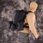TOPQSC Tactique Militaire Sac à Dos, L'Alpinisme de 55L Combiné avec 3 Poches Molles, Matériel d'Oxford 600D également Fort pour Voyage, Excursion, Randonnée, Vélo, Camping, etc. TOPQSC Tactique Militaire Sac à Dos, L'Alpinisme de 55L Combiné image 1 produit