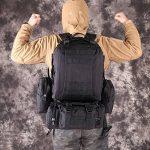 TOPQSC Tactique Militaire Sac à Dos, L'Alpinisme de 55L Combiné avec 3 Poches Molles, Matériel d'Oxford 600D également Fort pour Voyage, Excursion, Randonnée, Vélo, Camping, etc. TOPQSC Tactique Militaire Sac à Dos, L'Alpinisme de 55L Combiné image 6 produit