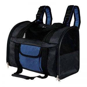 Trixie Sac à Dos Transport pour Chats ou Petits Chiens 42 × 29 × 21 cm, Noir/Bleu de la marque image 0 produit