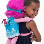 trolls 67696–Poppy 3D Sac à dos en peluche avec courroie de transport réglable, 23x 12x 54cm de la marque image 4 produit