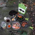TTLIFE 12 Sets Casseroles et Poëles Antiadhésive avec Pière à Feu Survie--Sets de Camping en Aluminium-- L'Ensembles Popotes Facile à Transporter pour 1-3 Personnes Ustensiles de Cuisine pour Camping/Pique-nique/BBQ/Randonnée/Pédestre/Excursion (A) de image 6 produit
