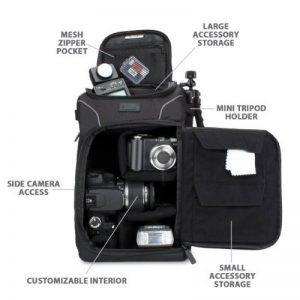 USA Gear S15 Sac à Dos Epaule Professionnel Appareil Photo Réflex avec Couverture Waterproof Incluse , Rangements Personnalisables & Port Trépied Pour Canon EOS 700D , Nikon D3300 , Pentax Et Plus de la marque Accessory Power image 2 produit