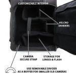 USA Gear S17 Sac à dos Professionnel Appareil Photo Réflex Numérique avec Support Trépied , Compartiment Ordinateur Portable & Rangements Accessoires Pour Canon EOS 100D , Nikon D3300 , Pentax Et Plus de la marque Accessory Power image 3 produit