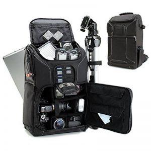 USA Gear S17 Sac à dos Professionnel Appareil Photo Réflex Numérique avec Support Trépied , Compartiment Ordinateur Portable & Rangements Accessoires Pour Canon EOS 100D , Nikon D3300 , Pentax Et Plus de la marque image 0 produit