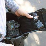 USA Gear Sacoche Sac Bandoulière Appareil Photo Réflex Housse Semi-Rigide Transporte jusqu' à 3 Objectifs Pour Nikon, Canon EOS de la marque USA GEAR image 4 produit